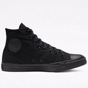 All Black Converse All-Star high tops